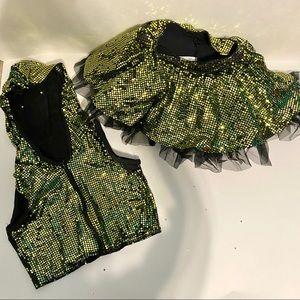 Weissman Dance Costume | Zip Up Jacket & Tutu Set